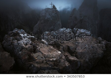Stone abyss in rocks Stock photo © pekour