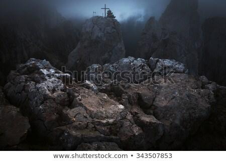 Pedra abismo rochas grama verde natureza fundo Foto stock © pekour