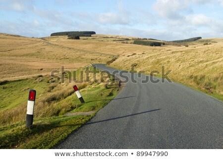Narrow Welsh country road Mynydd Epynt, UK. Stock photo © latent