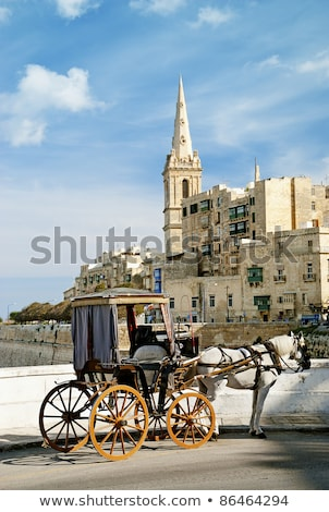 horsedrawn cart in valetta malta stock photo © travelphotography