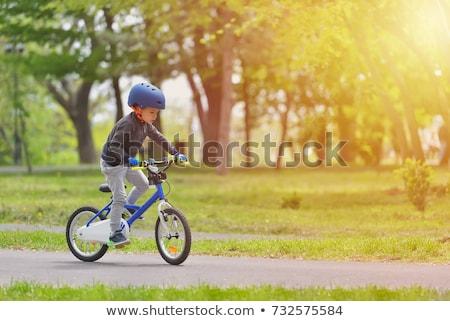 sport boy and bike outside stock photo © oleksandro