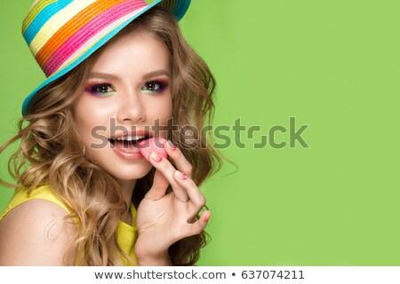 Fiatal nő érdekes smink szexi divat modell Stock fotó © konradbak
