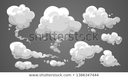 Foto stock: Fumar · nuvem · abstrato · azul · natal · papel