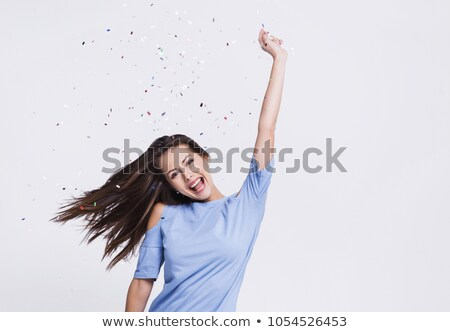 mujer · blanco · fondo · nina · sexy · feliz - foto stock © choreograph