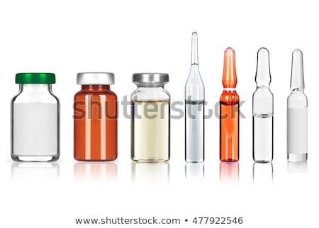 injekciós · tű · orvosi · izolált · fehér · üveg · gyógyszer - stock fotó © tashatuvango