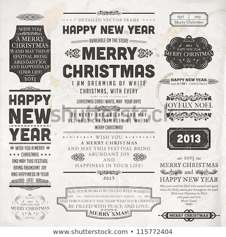 Happy new year 2013 typographique carte vintage rétro Photo stock © thecorner