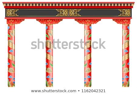 hagyományos · kapu · bejárat · templom · égbolt · víz - stock fotó © pzaxe
