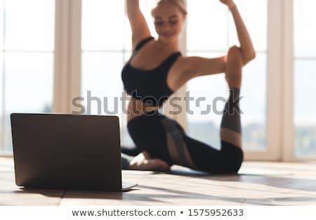 Bastante bailarina piso nina cara Foto stock © wavebreak_media