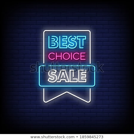 Vector Best Choice Labels Illustration with shiny styled design. Stock photo © articular