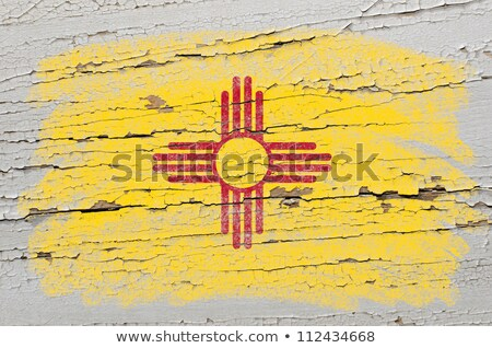 flag of US state of new mexico on grunge wooden texture precise  Stock photo © vepar5