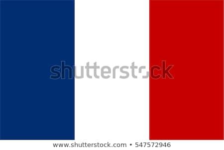 Foto stock: Francês · bandeira · ilustração · isolado · vinho