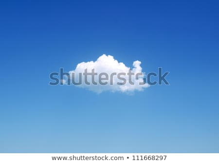 lonely white cloud stock photo © leonardi
