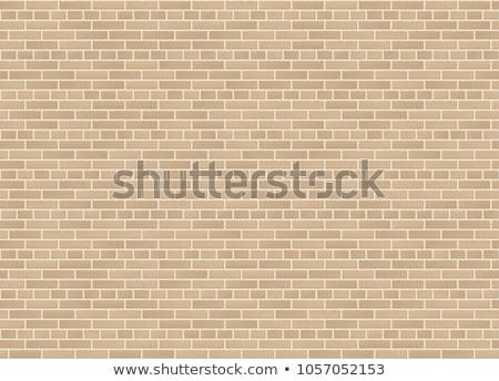 Arenito parede de tijolos sem costura rachaduras construção parede Foto stock © tashatuvango