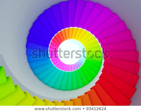 Colorful spiral stair to the infinity. stock photo © nav