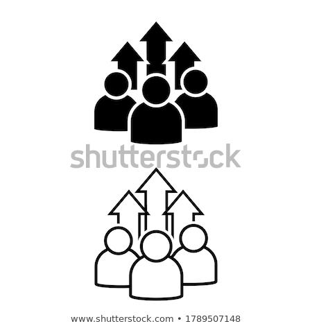 Groeiend groep succes twee bomen Stockfoto © Lightsource