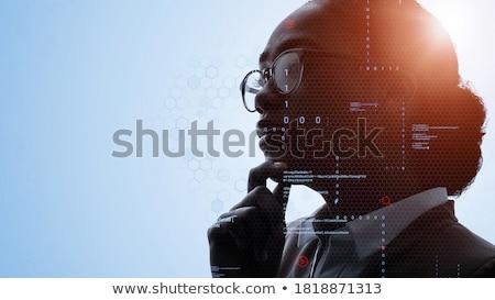 интернет стратегия бизнесмен пер глядя Сток-фото © silent47