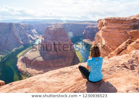 Hoefijzer pagina Arizona beroemd rivier Stockfoto © meinzahn