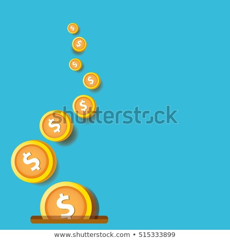 flying coins falling in bag stock photo © mikko