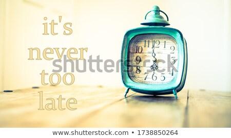 никогда · поздно · печально · время · успех · страхом - Сток-фото © ansonstock