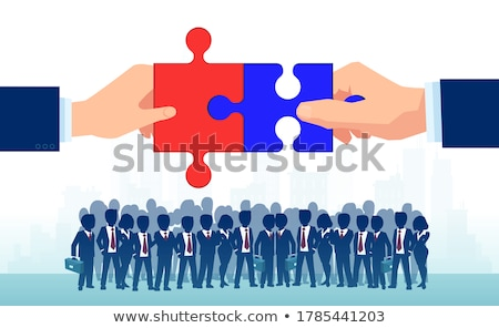 two businessmen agree on a puzzle bridge stock photo © 6kor3dos