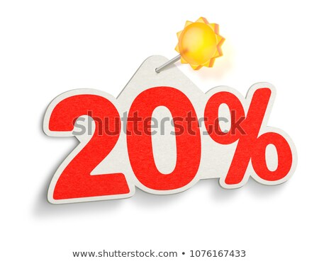 summer discount and 20 percentages off in label with sun stock photo © marinini