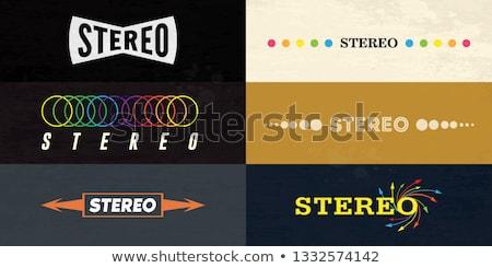 Stereo spreker geluid audio Stockfoto © zzve