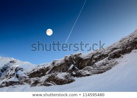 blue · sky · condensação · trilha · aeronave · luz · mundo - foto stock © anshar