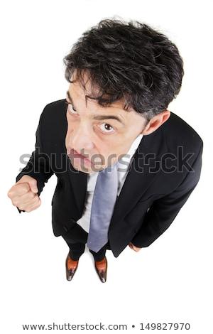 Uomo pugno ritratto diminuendo Foto d'archivio © smithore