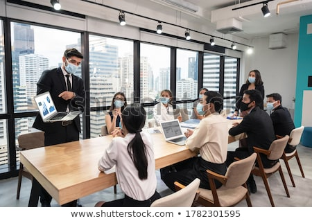 Stock photo: Businessman in a Meeting