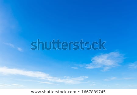Stock photo: Blue sky white clouds in a summer clean day, nature