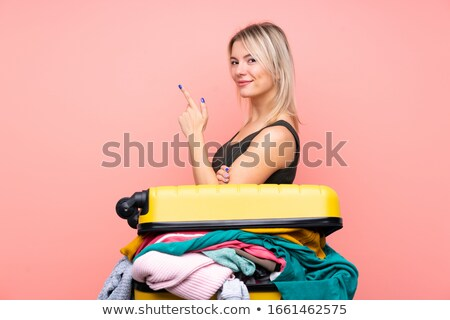 girl with suitcase on vacation Stock photo © Aleksangel