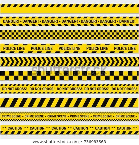 警察 テープ グレー テクスチャ 建設 クロス ストックフォト © vlastas