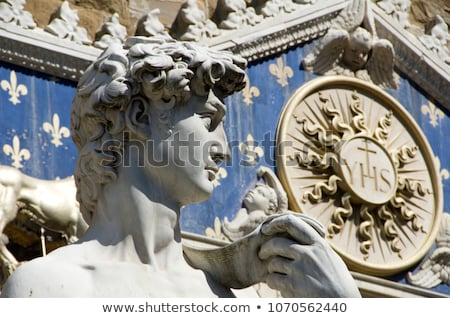 replica of the david by michelangelo in florence italy stock photo © nito