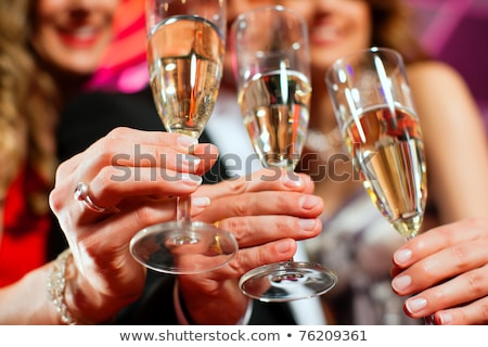 çift içme şampanya gıda adam Stok fotoğraf © photography33