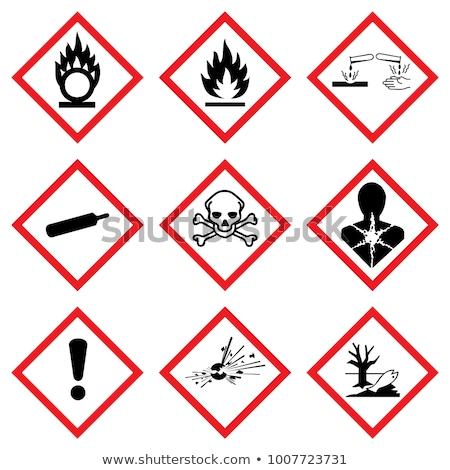 Danger sign warning of corrosive substances Stock photo © Ustofre9