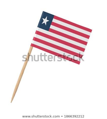 Miniatura bandeira Libéria isolado vermelho Foto stock © bosphorus