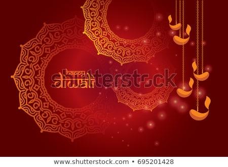 Artistiek religieuze kleurrijk diwali festival vector Stockfoto © bharat