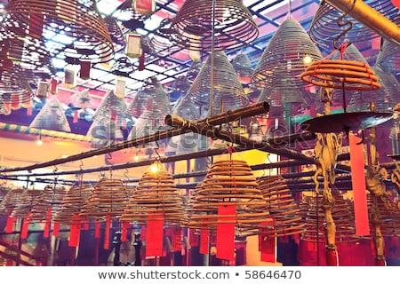Chinese Gods Man Mo Temple  Hong Kong Stock photo © billperry
