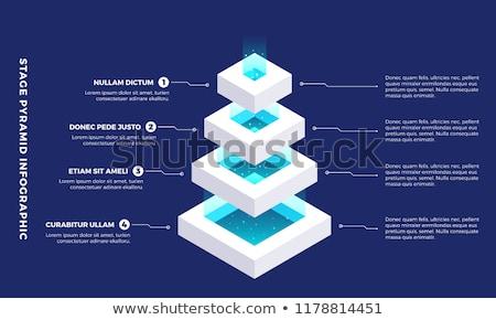 piramide · bianco · grafico · ombra · illustrazione · 3d - foto d'archivio © make