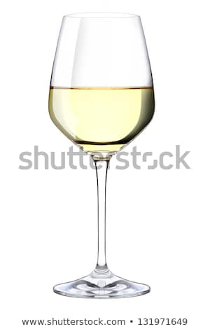 ワイングラス 反射 孤立した 白ワイン ガラス 白 ストックフォト © gsermek