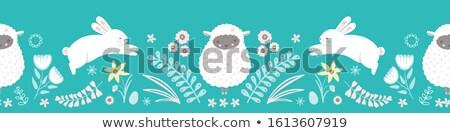 Pasen schapen foto witte voorjaar ogen Stockfoto © Marfot