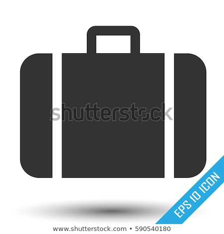 suitcase icon stock photo © tkacchuk