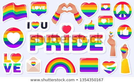 Lesbiennes signe icône bouton femme sexe Photo stock © smoki