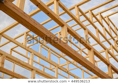 wood beams mounting technique Stock photo © taviphoto