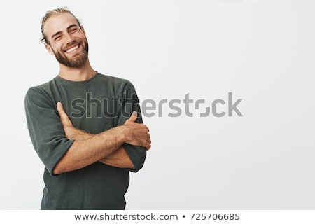 肖像 幸せ 男 深刻 見える 笑顔 ストックフォト © meinzahn