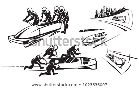 Four-man bobsleigh. Stock photo © Fisher