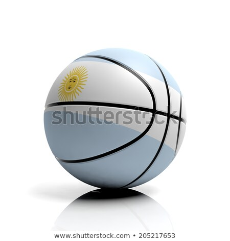 Baloncesto pelota Argentina bandera blanco eps Foto stock © Istanbul2009