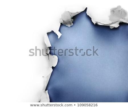 Ontdekking gescheurd papier woord achter gescheurd pakpapier Stockfoto © ivelin