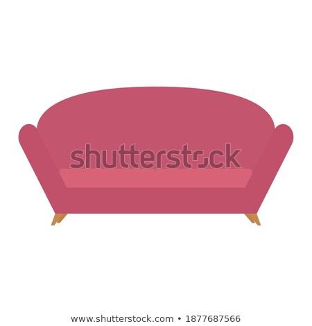 Izolált · modern · kanapé · digitálisan · rajzolt · üzlet ...