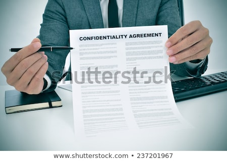 Confidential Agreement Stock photo © Lightsource